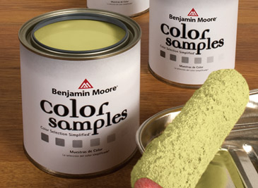 Benjamin Moore color samples