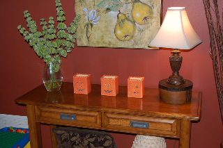 Change out a few small items on your side tables for a festive fall look!