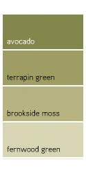 Try a natural, grassy green as an complement to your neutral base.