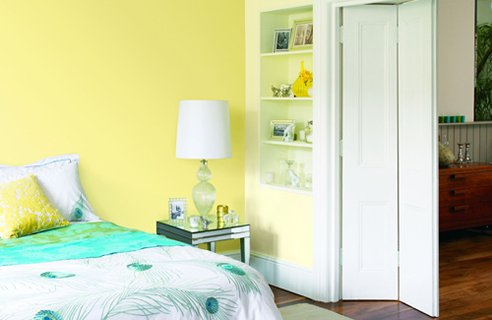 Yellow paint hirshfield 39 s color club for Bedroom yellow paint