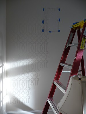 Are you familiar with the Imperial Trellis wallpaper from Schumacher? One  of my favorites. Hello, Gorgeous made her own Imperial Trellis stencil  you'll ...