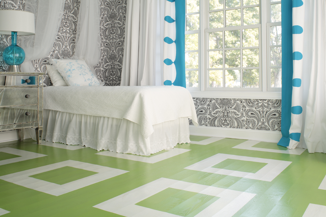 Friday finds painted floors hirshfield 39 s color club for Floor ideas for bedroom