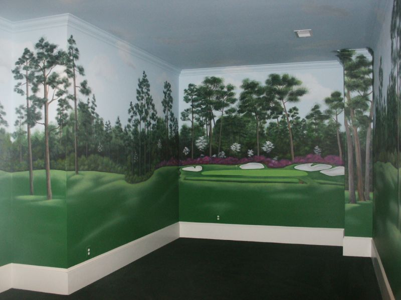 301 moved permanently On augusta national wall mural