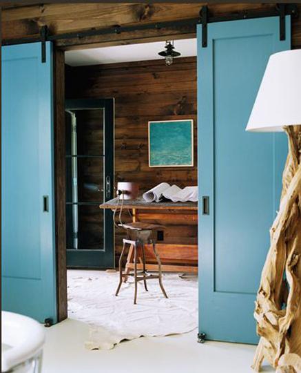 friday finds: interior sliding barn doors}  Hirshfields Color Club