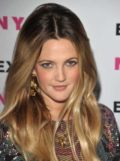 Drew-Barrymore-Nylon-party-ombre-hair