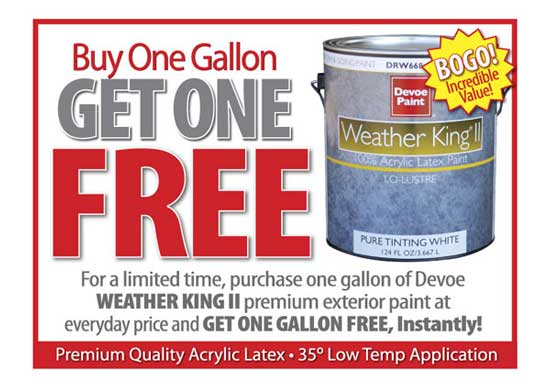 bogo weather king II exterior paint Hirshfields Color Club