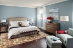 walls: nimbus Gray (2131-50), ceiling & trim: White Dove (OC-17), accent: Gypsy Love (2085-30)