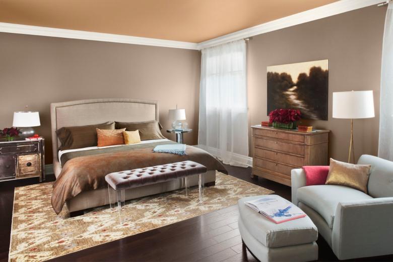 walls: Stardust (2108-40), ceiling: Farm Fresh (AF-360), trim: White Dove (OC-17)