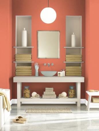Tangerine dream hirshfield 39 s color club for Benjamin moore bathroom colors 2011