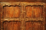 Close-up of sideboard doors