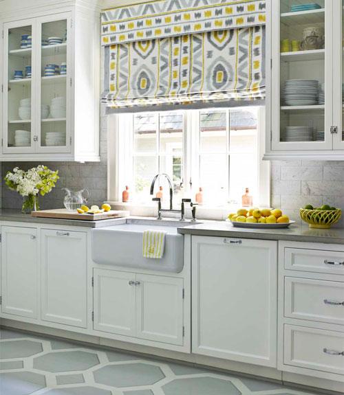 Hbx modern traditional kitchen painted pattern floors 0212 for Traditional painted kitchens