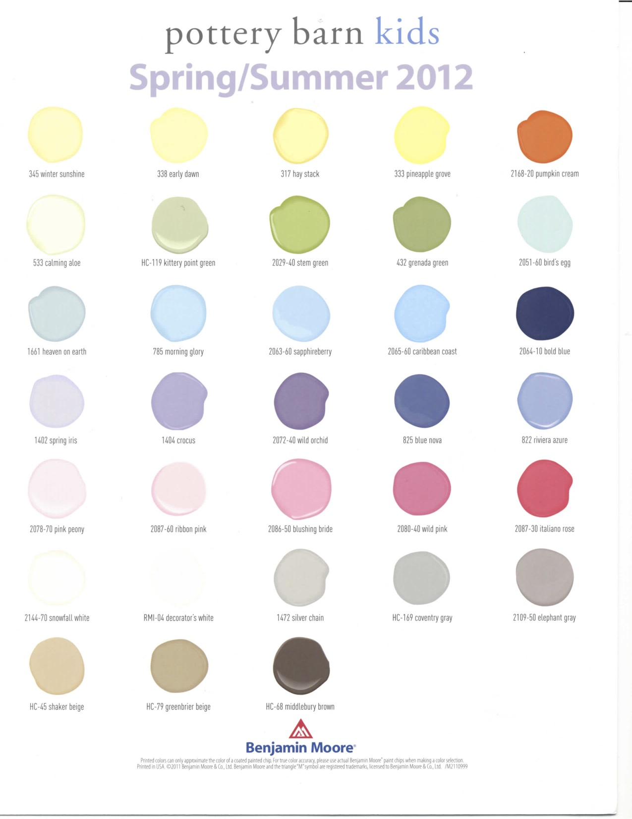 Pottery barn paint colors 2013 - Fabulous Pottery Barn Color Club With Potterybarn Paint