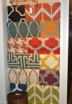 Flat weave rugs available at Hirshfield's design studio.