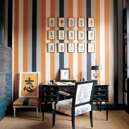 black and orange design