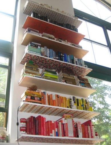 Ariel's DIY Bookshleve Surprise via Apartment Therapy