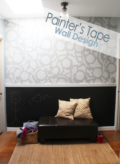 painters tape wall