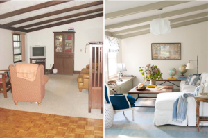 A side-by-side comparison shows the vast changes you can make to a room.