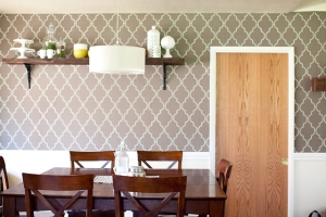 Use liquid starch for removable wallpaper.