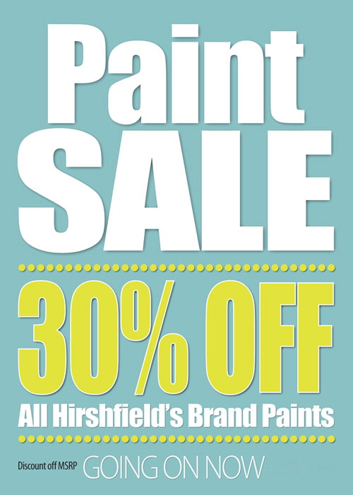 Hirshfield Paint Sale