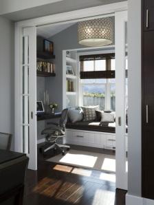 Position your desk to enjoy sun but avoid glare.