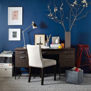 People tend to be more productive in blue rooms.