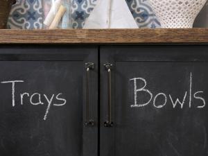 chalkboard paint cupboards