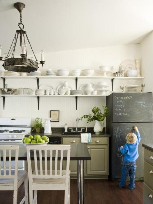 Chalkboard paint in the kitchen