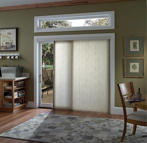 Window Treatments For Sliding Doors Hirshfields Color Club - Hunter douglas blinds for patio doors