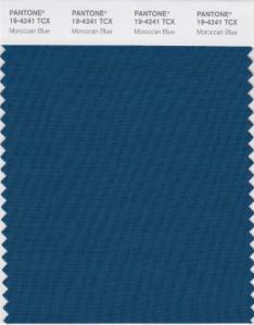 Pantone Moroccan Blue