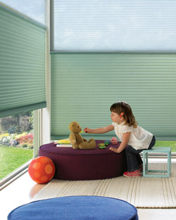 Cordless window treatments.