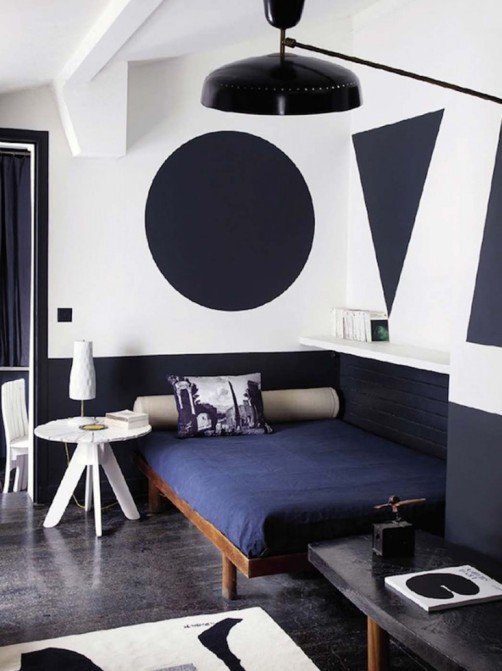 painted shapes on walls