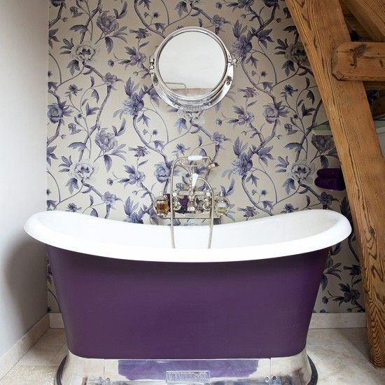 Tub painted purple