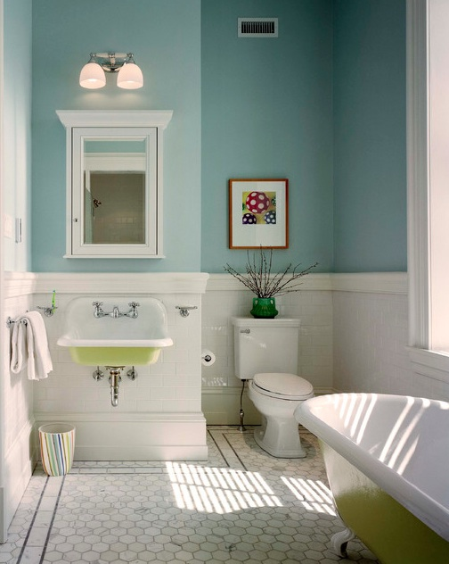 painted sinks and tubs