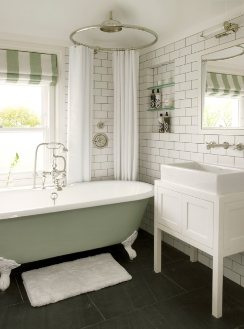 Painted bathtub