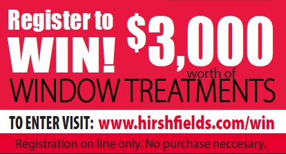 Window fashions contest Hirshfield's
