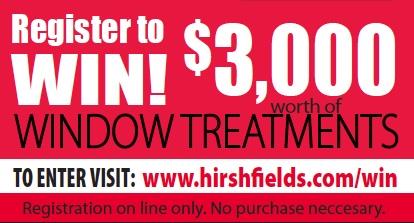 Window fashions contest Hirshfield's