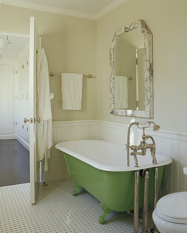 tub painted green