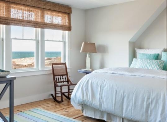 Beach bedroom woven woods