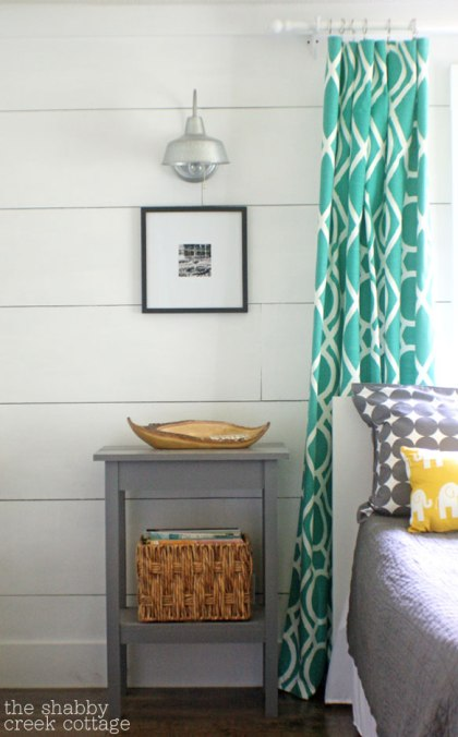 Painted plank walls