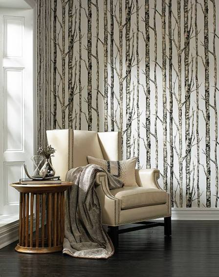 The Birches Wallcovering