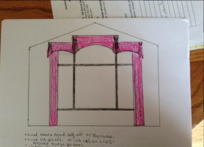 Window Treatment Idea Sketch