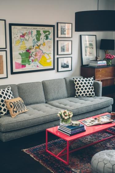 DesignSponge pink coffee table