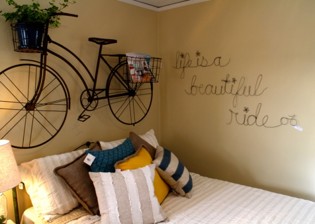 Bike wall at Bachman's Spring Ideas House 2015