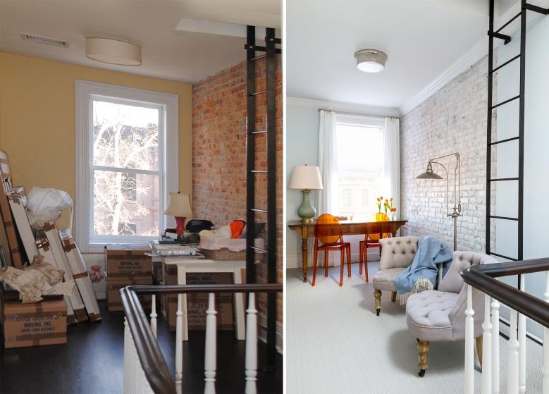brick painted white interior