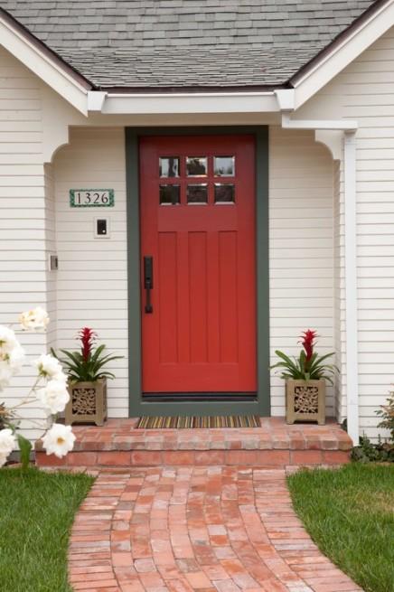 Benjamin Moore Sangria front door
