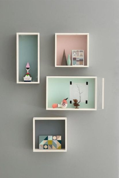 pastel painted boxes