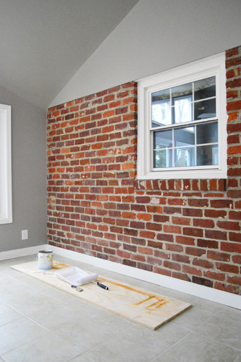 How to paint exterior brick walls pbjstories how to paint an interior brick wall pbjreno how - Painted brick exterior pictures set ...