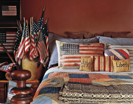 Patriotic Bedroom - Country Living