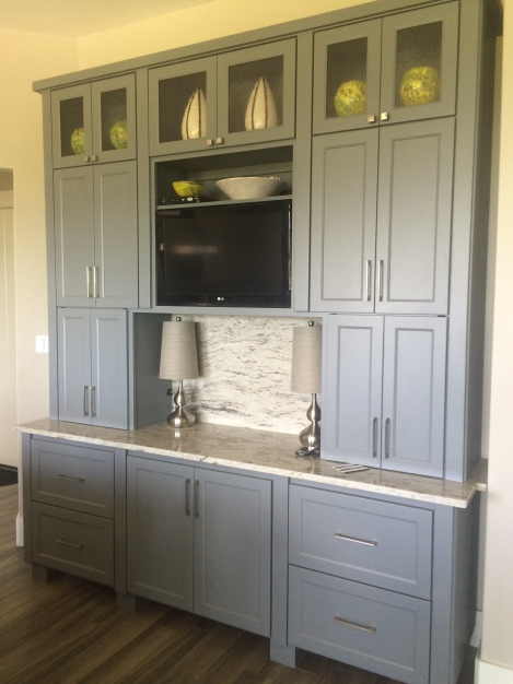 Gray Cabinets with Greige Paint