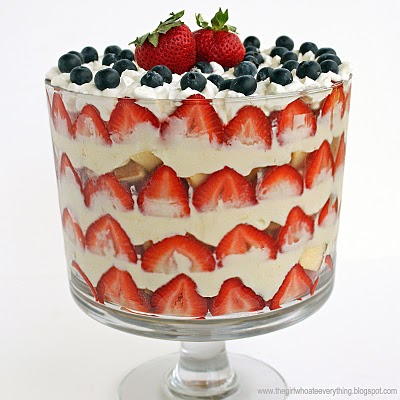 Patriotic Strawberry Trifle - The Girl Who Ate Everything